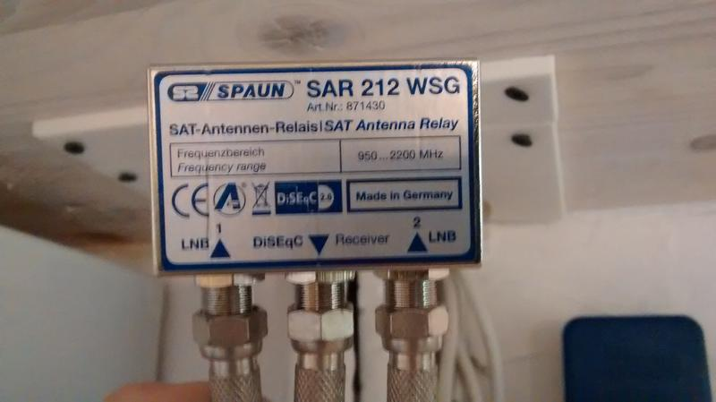 einrichten von sat antennen