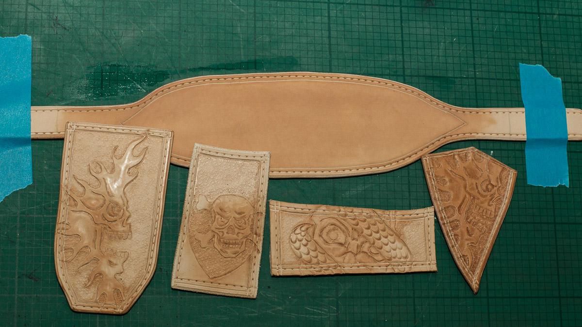 leather crafting kante motiv punzieren und f rben. Black Bedroom Furniture Sets. Home Design Ideas