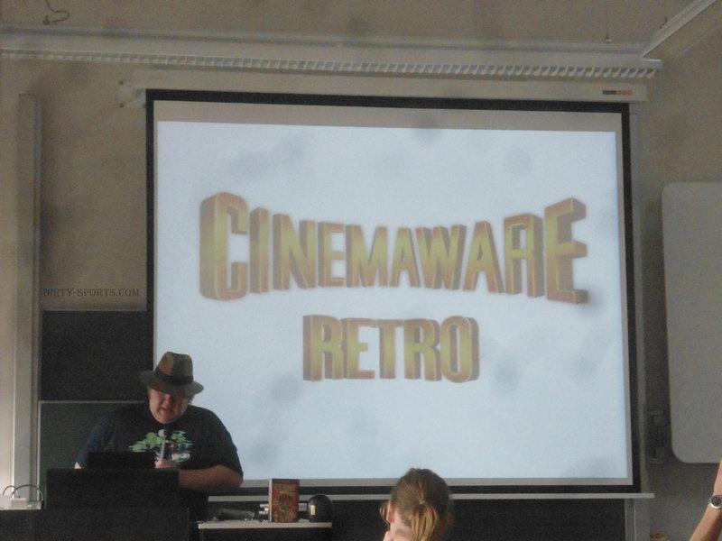 Lange Nacht der Computerspiele. Sven Vössing stellt Cinemaware Retro in einer Präsentation vor.