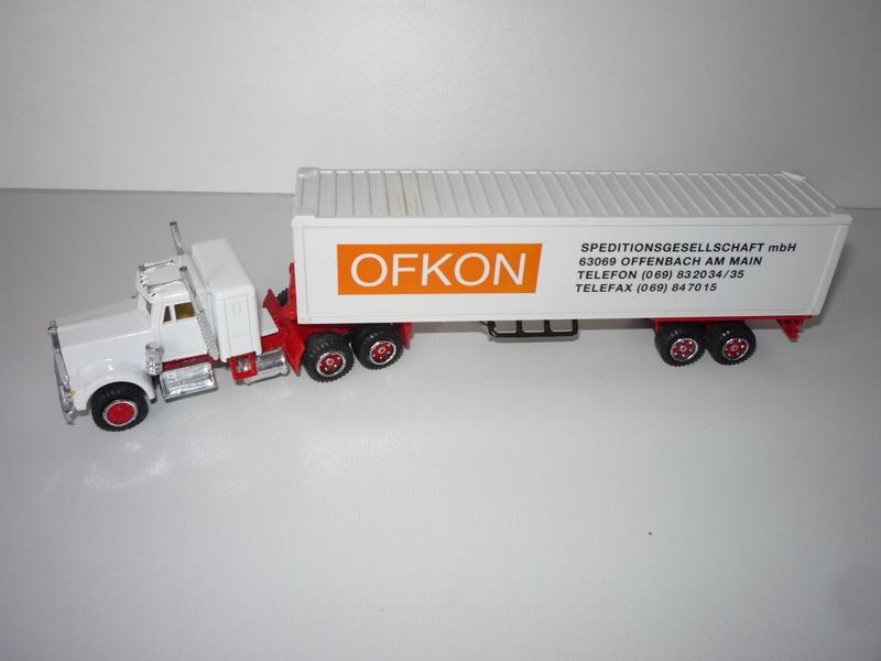 N°604 Kenworth + semi remorque container  ( version lisse ) 22277642vp
