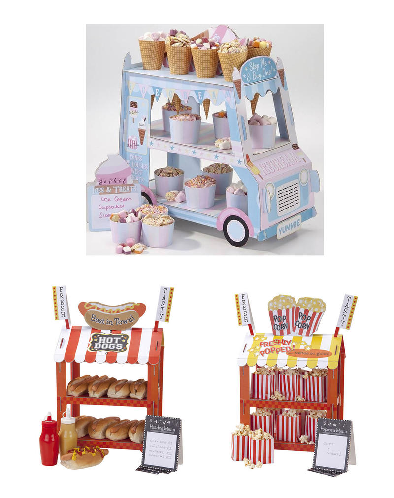 ice cream van popcorn hot dog cupcake st nder f r hochzeit geburtstag party ebay. Black Bedroom Furniture Sets. Home Design Ideas