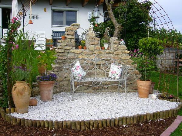 freistehende gemauerte wand aus feldsteinen - seite 1, Garten Ideen