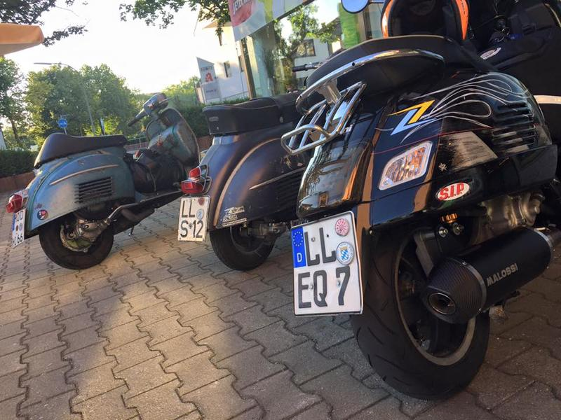 R/ücklicht schwarz Vespa GTS