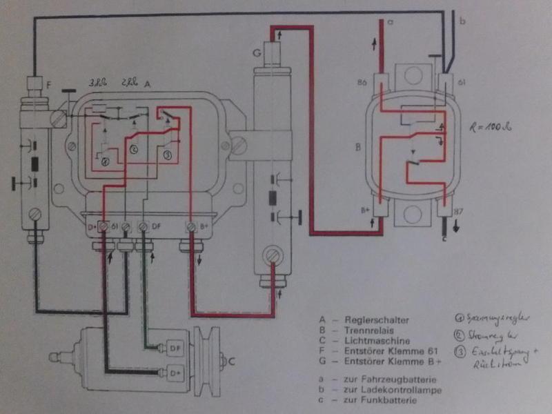 elektrik regler gleichstromlichtmaschine vw 181. Black Bedroom Furniture Sets. Home Design Ideas