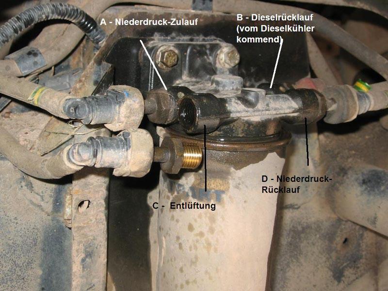 kraftstoffleitung undicht vw