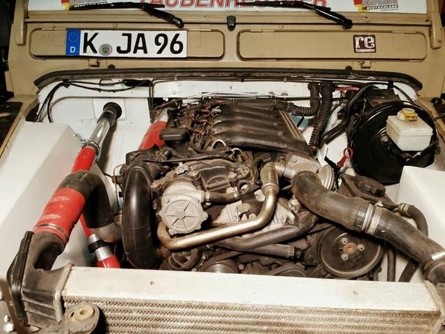 fitting bmw 530d m57 engine into defender 110, ex 200tdi