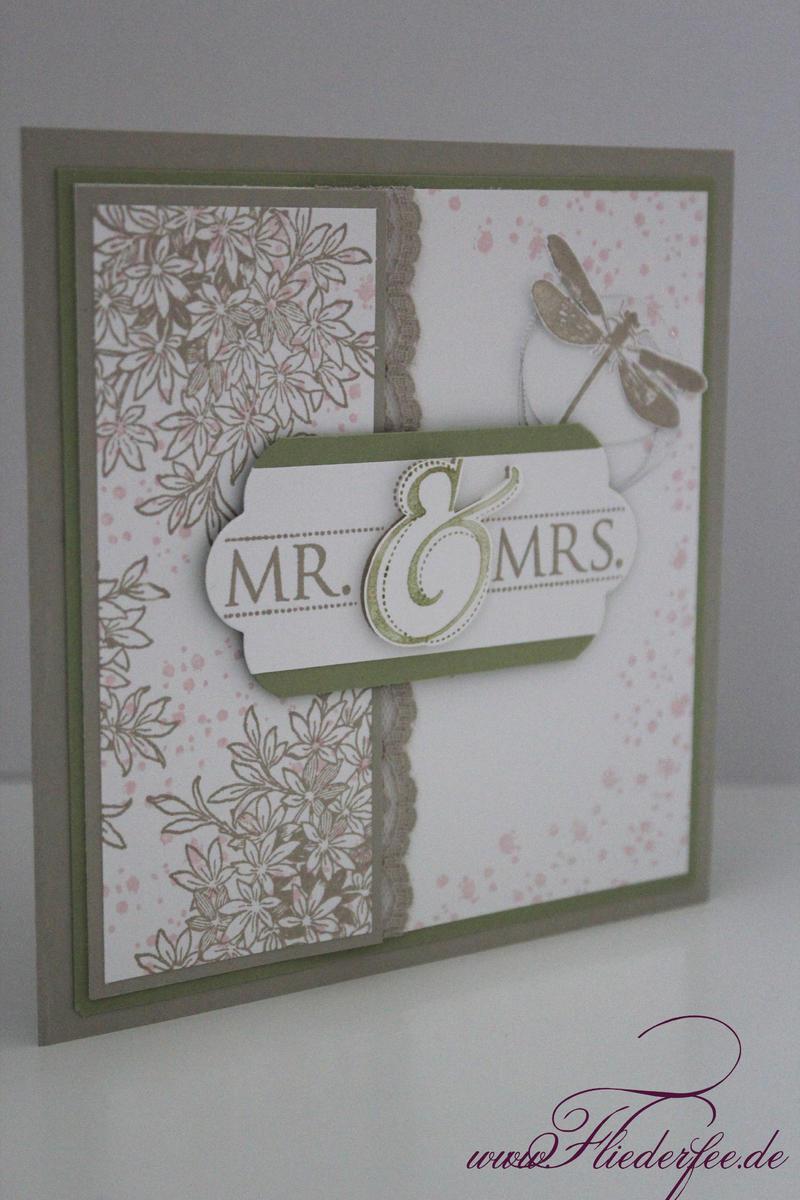 Bezaubernde Hochzeitskarte Mit Libelle Fliederfee Stampin Up