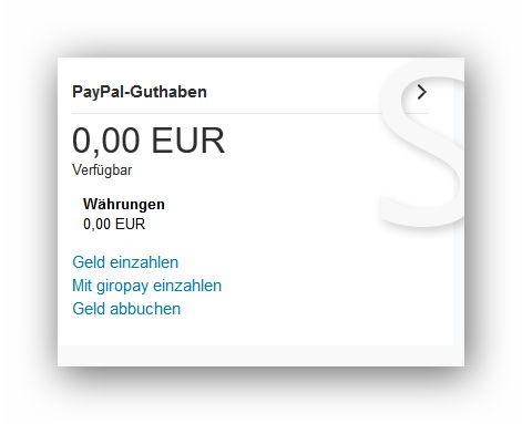 konto übersicht paypal