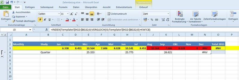 Excel2010 - Zellbezug Dynamisch aus andere Tabellenblatt
