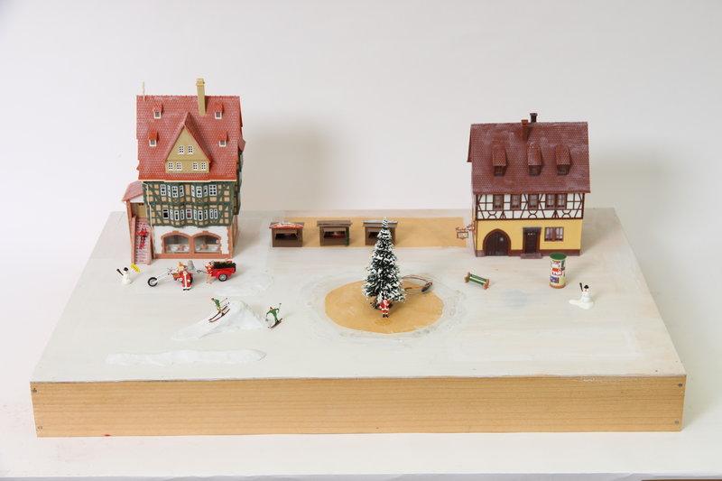 weihnachts diorama spur h0 1 87 noch busch faller. Black Bedroom Furniture Sets. Home Design Ideas
