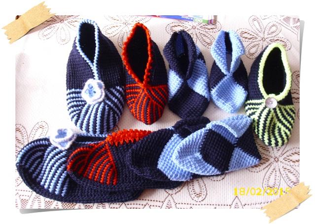 Meine Süchtig Machenden Puschen Tunesisch Gehäkelt Junghans Wolle