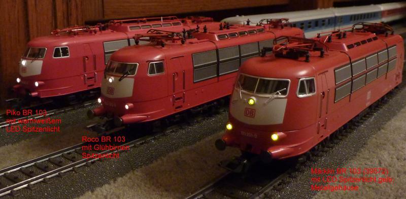 Vergleich Wechselstrom Modelle der BR 103 in orientrot 24423694rd