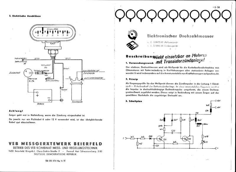DDR-Drehzahlmesser - Zentrales Wartburg Forum