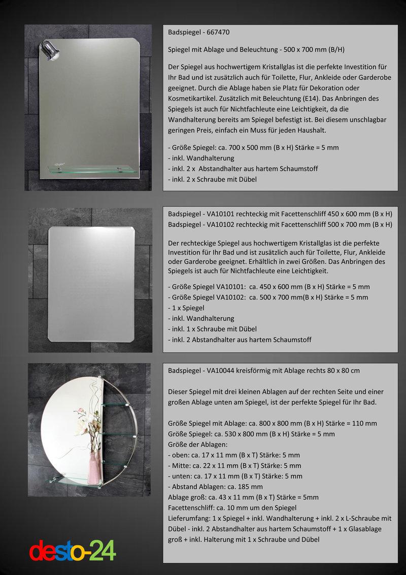 b ware badspiegel spiegel mit ohne ablage beleuchtung badezimmerspiegel ebay. Black Bedroom Furniture Sets. Home Design Ideas