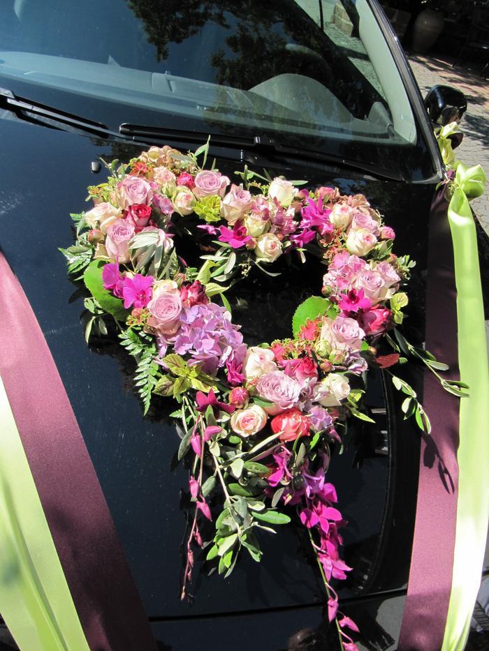 Fürs Hochzeitsauto Hochzeit Auto Aufkleber Blumen Und Schmuck ...