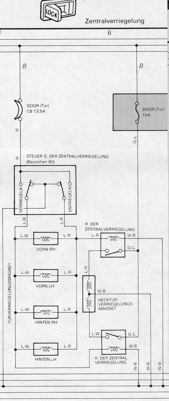 Buschtaxi.net • Schaltplan Zentralverriegelung HJ61 Elektroplan