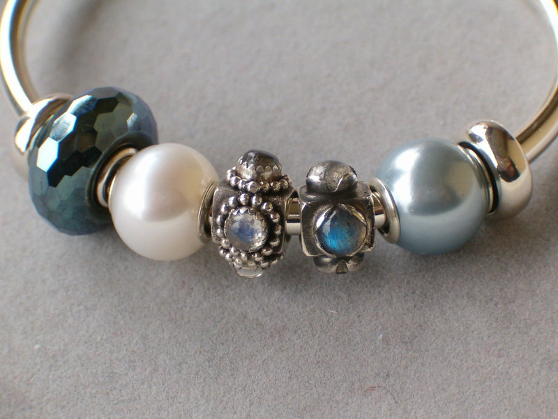 Light blue with pearls and stones 24679778im