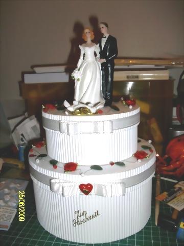 Hochzeitstorte Basteln Papier Kuchen Bild Idee