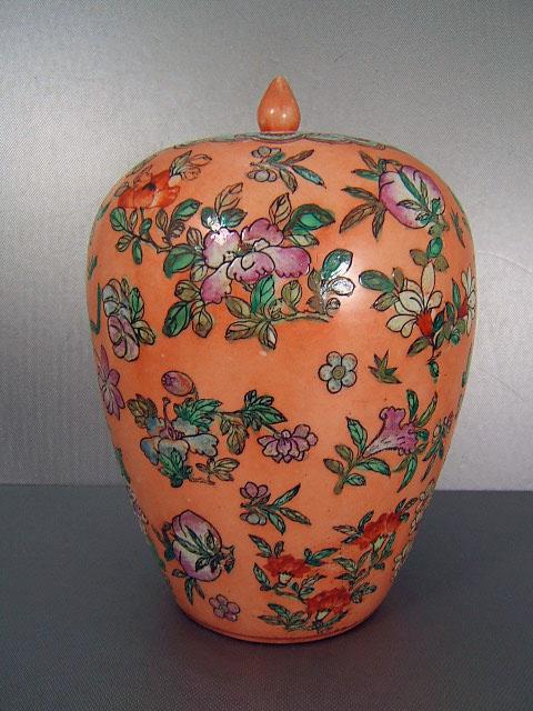 china porzellan vase mit deckel in stil chien lung periode ebay. Black Bedroom Furniture Sets. Home Design Ideas