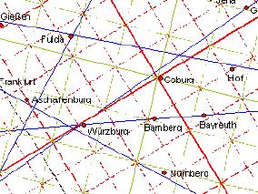 Deutschland leylinien Leylinien Karte