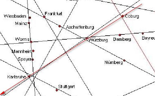 Karte schweiz linien ley Leylinien Österreich