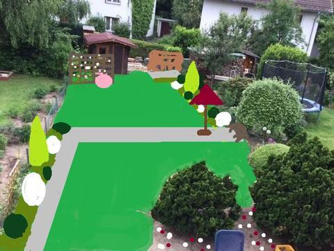 Schmaler Reihenhausgarten - 2. Version besser? - Mein schöner ...