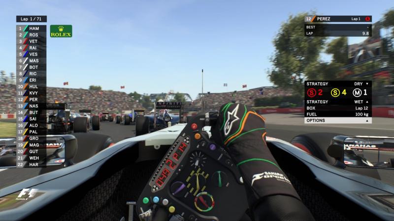 Afbeeldingsresultaat voor F1 2016 codemaster TV HUD lifeO