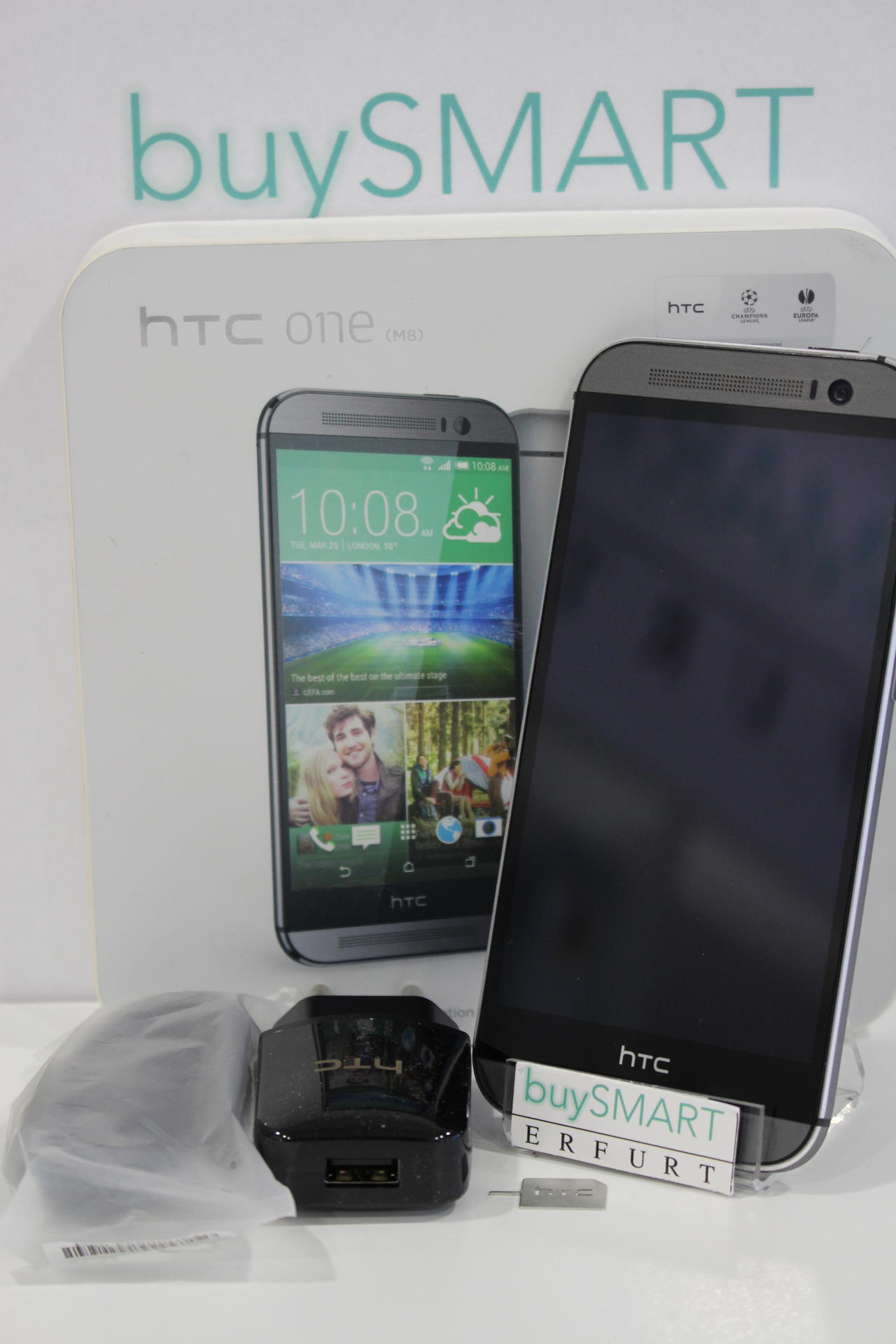 htc one m8 16gb gray gut rechnung h ndler ohne vertrag. Black Bedroom Furniture Sets. Home Design Ideas