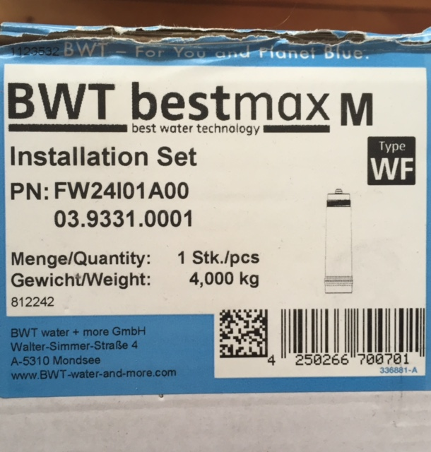 Erledigt] - BWT water+more bestmax Filter M