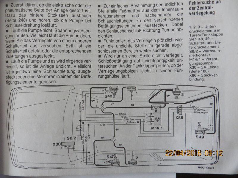Kein strom auf der ZV Pumpe - Interieur - w124-freunde.com