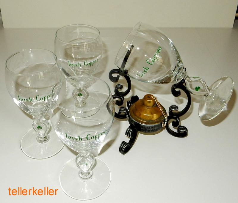 irish coffee set mit 4 gl ser schmiedeeisen brenner glas. Black Bedroom Furniture Sets. Home Design Ideas