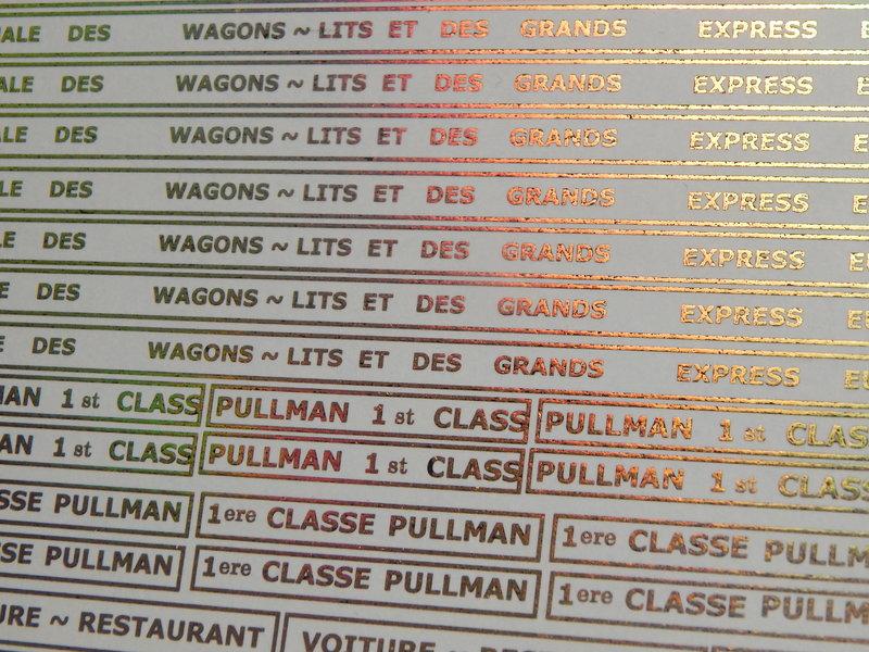346 Wagenschrott zum Pullman Orient Express 25316778xh
