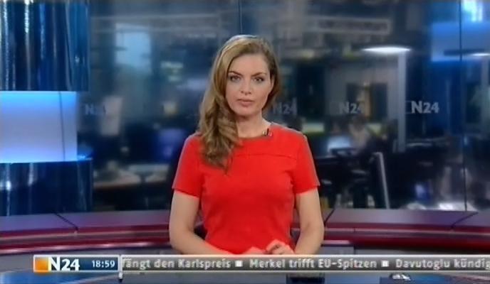 Stephanie Puls mit den Nachrichten bei N24 am 06.05.2016