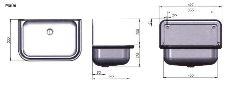 ausgu becken ausgussbecken stahl wei emailliert mit alu. Black Bedroom Furniture Sets. Home Design Ideas