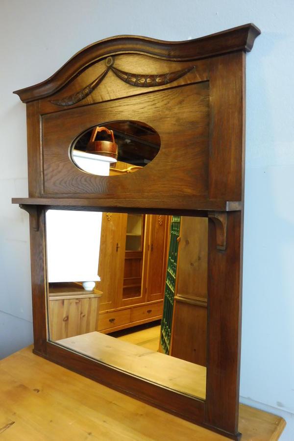 spiegel wandspiegel massiv eiche um 1920 ebay. Black Bedroom Furniture Sets. Home Design Ideas