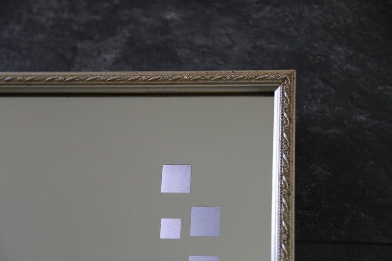 led spiegel badspiegel mit design holzrahmen licht. Black Bedroom Furniture Sets. Home Design Ideas