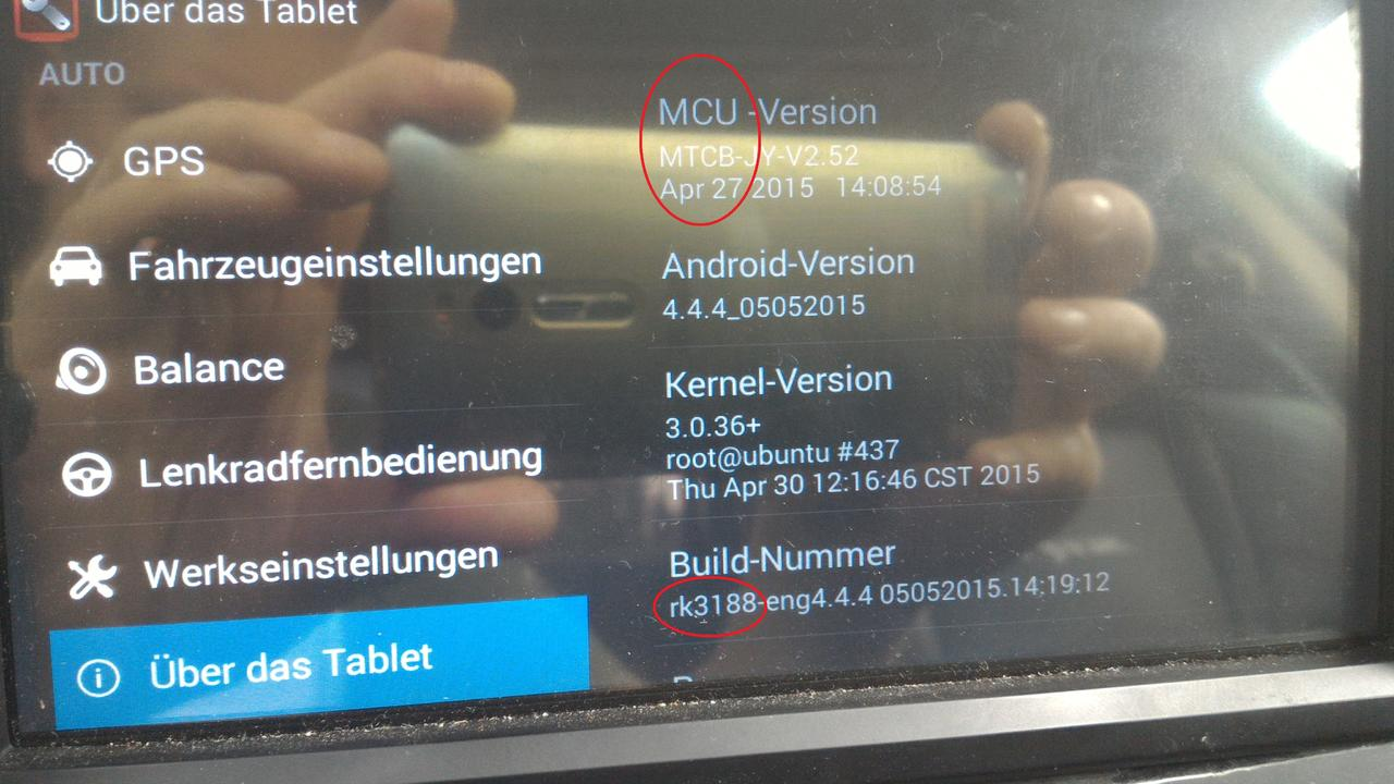Update Joying, Pumpkin, MCU Version MTCB auf Lollipop - Chrysler