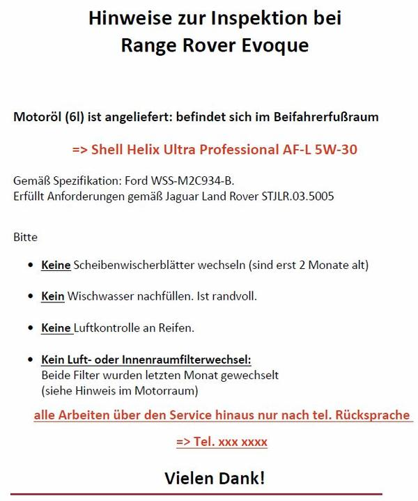 range rover evoque forum germany thema anzeigen inspektion. Black Bedroom Furniture Sets. Home Design Ideas