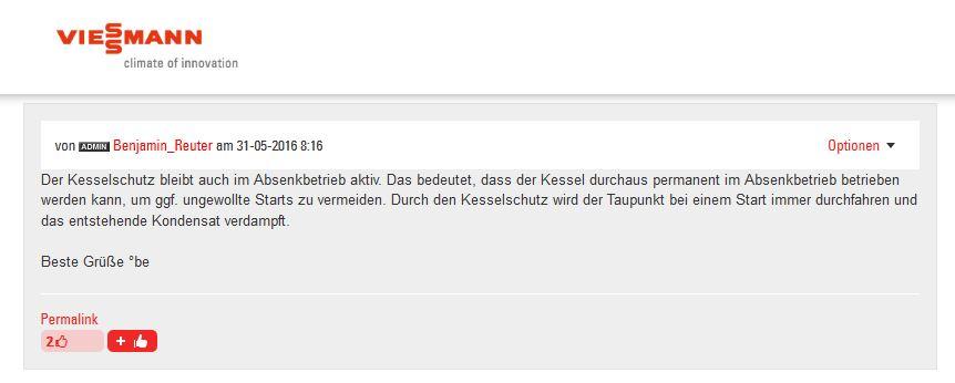 Vitotronic Verständnisfrage Kesselsoll und Kesselist-Temp ...