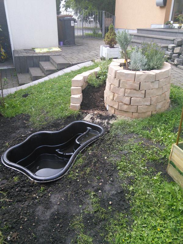 Miniteich 150 Liter An Kräuterspirale Pflanzplan Mein Schöner