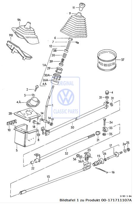 VW Bus Bulli T2 T3 Buchse Schaltung Schaltgestänge Schaltstange hinten NEU