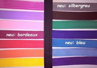 neue Farben gepolstertes Gurtband