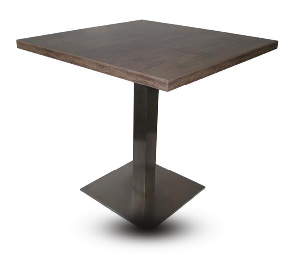 gastronomie tisch mit edelstahl untergestell bistrotisch tischplatten gastro ebay. Black Bedroom Furniture Sets. Home Design Ideas