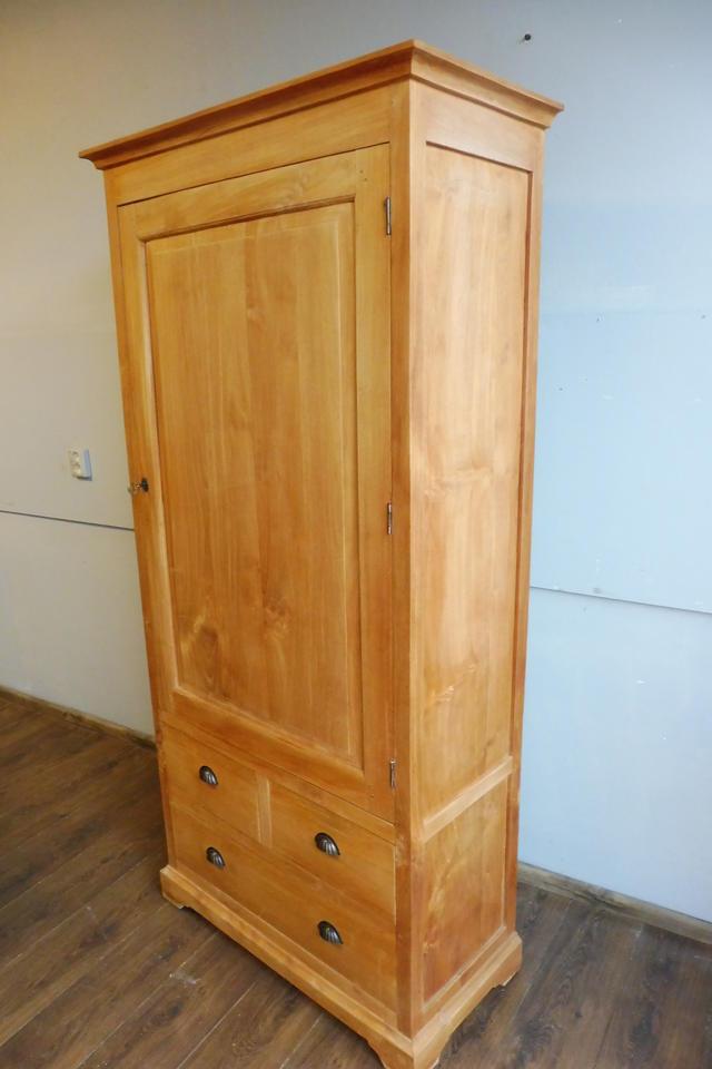 teakholz schrank kleiderschrank k chenschrank. Black Bedroom Furniture Sets. Home Design Ideas