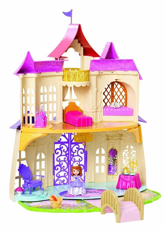 mattel ccg60 sofia die erste schloss. Black Bedroom Furniture Sets. Home Design Ideas