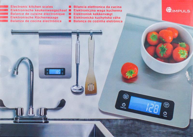 Digitale Küchenwaage 1g  5kg Edelstahl Temperatur und Timer viele