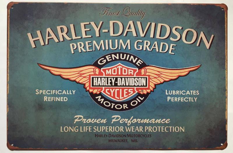 harley davidson retro 20x30 cm blechschild motorrad biker. Black Bedroom Furniture Sets. Home Design Ideas
