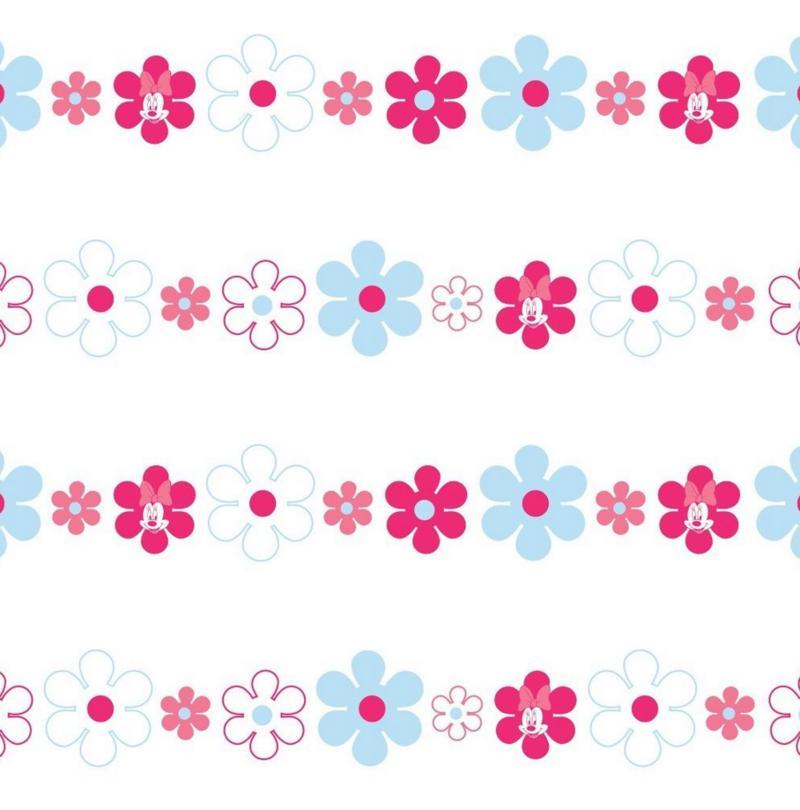 kinder tapete kinderzimmer tapete blumen minnie maus rosa ebay. Black Bedroom Furniture Sets. Home Design Ideas