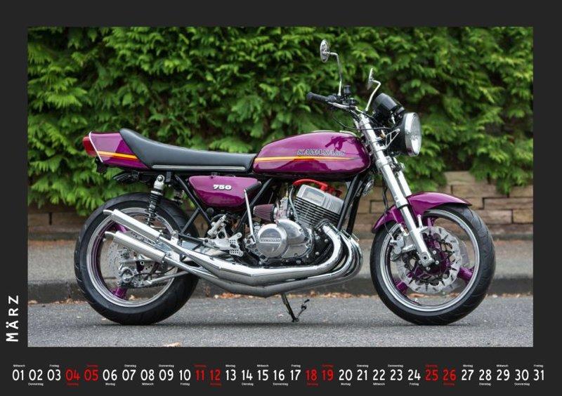 kawasaki kawasaki dreizylinder zweitakt motorrad kalender. Black Bedroom Furniture Sets. Home Design Ideas