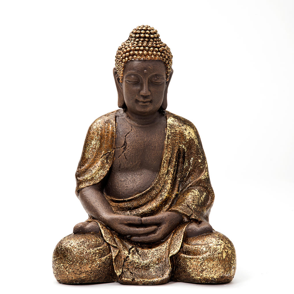 thai buddha deko figur buddhismus budda skulptur feng shui statue joga gl ck ebay. Black Bedroom Furniture Sets. Home Design Ideas